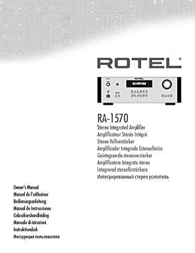 Rotel RA-1570 Amplifier Owners Instruction Manual Reprint: Amazon.com: Books