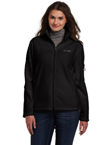 Columbia Women's Plus-Size Fast Trek II Full Zip Fleece Jacket Plus, Black, 3X
