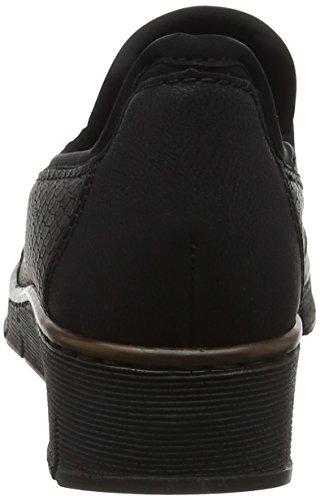 Rieker Gris noir Mocassins 00 Noir Granit Granit Noir 53778 Noir Femmes g1qnE