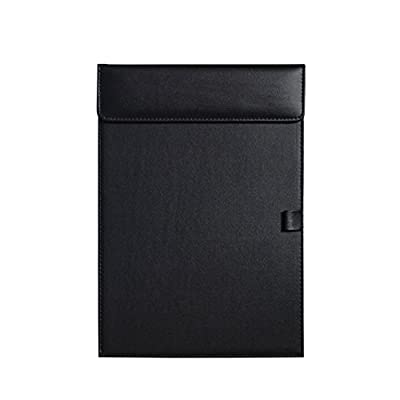 Clobeau Ultra-Smooth PU Leather Office Meeting Conference Magnetic A4 File Paper Profile Clip Drawing Writing Board Pad Tablet Desk Blotter Mat File Folder Clipboard Hardboard with Pen Holder Loop