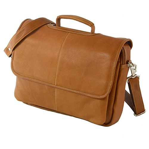 - Hammer Anvil Solano Colombian Leather Messenger Bag Laptop Briefcase Tan