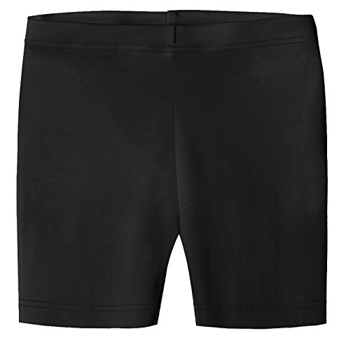 City Threads Big Girls Organic Cotton Underwear Bike Shorts For Sensitive Skin or SPD Sensory Friendly, Black, 16