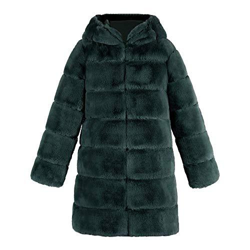 Hx Cappotto Sintetica Caldo Inverno Giacca Di Donna Faux Elegante Autunno Lusso Volpe Parka Chic Pelliccia Cappuccio Allentato Gn1 Fashion Con AtwrRA