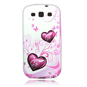 Flower and Peach Heart 24 Case Cover for Samsung Galaxy S 3 III S3 I9300 + 1 pcs gift
