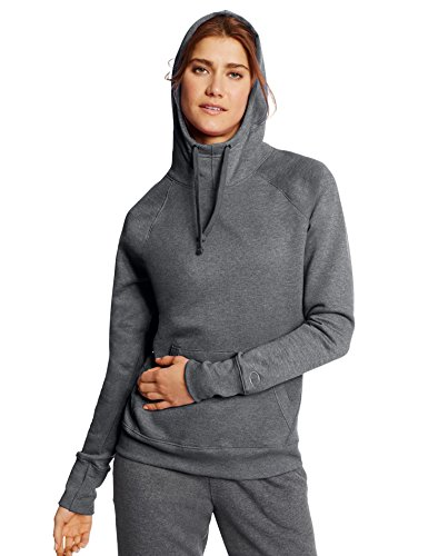 Champion Women's Fleece Pullover Hoodie, Granite Heather, X-Large