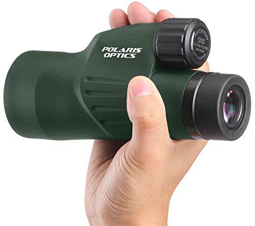 Polaris Optics Nature 10X50 Weitsicht Monokular. Hellste, klarste. Einfacher Einhand-Fokus. Wasserdicht. Nebeldicht. Für die Vogelbeobachtung, Tierwelt und Landschaft. Bonus Stativ ermöglicht freihändiges Betrachten