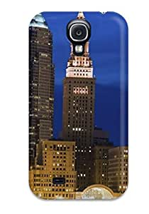 High Quality MaritzaKentDiaz Large Buildings Illuminated At Night Skin Case Cover Specially Designed For Galaxy - S4