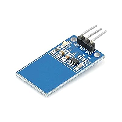 TTP223 Touch Sensor Module Capacitive Digital Touchpad Detector with LED Status Indicator and Bent Pins Alternative for Keypads and Push Button Keys from Optimus Electric