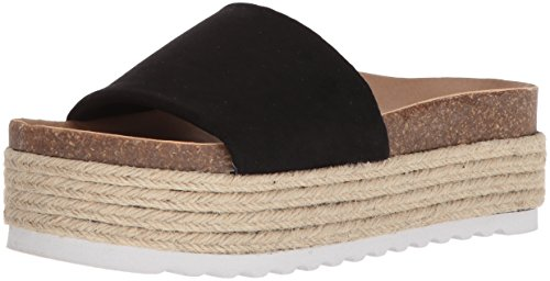 Dirty Laundry by Chinese Laundry Women's Pippa Espadrille Wedge Sandal, Black Suede, 7.5 M US