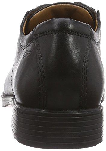 Clarks Tilden Plain Herren Derby Schnürhalbschuhe Schwarz (Black Leather)