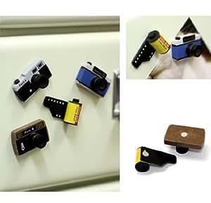 Camera Wood Magnet Set - Film and Cameras