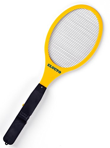 Electric Bug Swatter (Elucto Electric Bug Zapper Fly Swatter Zap Mosquito Best for indoor and Outdoor Pest Control 2200 Volt)