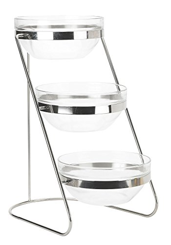 Winco TDS-3 3 Tier Glass Bowl Display Set by Winco
