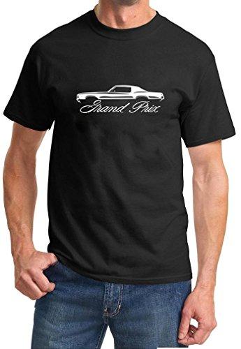 - 1969-72 Pontiac Grand Prix Classic Outline Design TshirtXL black