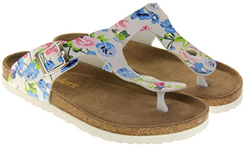 Coolers Womens Faux Leather Buckle Strap Mule Sandals