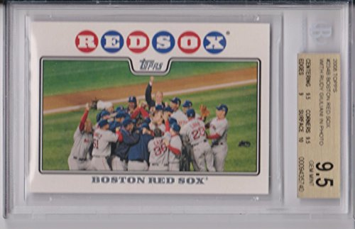 Variant Red Jersey - 2008 Topps Boston Red Sox 2007 World Series Champions Team Card #234B ERROR Variant Version Rudy Giuliani in Photo BGS 9.5 Gem Mint