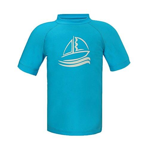 ESTAMICO Boys' UPF 50+ Short Sleeve Rashguard Athletic Swim Tee