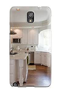 High-quality Durability Case For Galaxy Note 3(white Traditional Kitchen With Large Marble Island)