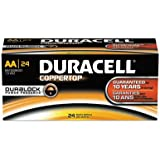 CopperTop Alkaline Batteries with Duralock Power Preserve Technology, AA, 24/Box, Sold as 1 Box, 24 Each per Box