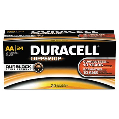 CopperTop Alkaline Batteries with Duralock Power Preserve Technology, AA, 24/Box, Sold as 2 Box, 24 Each per Box