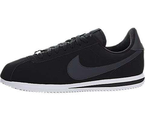 Nike Men's Cortez Basic Nbk,Black/White/Metallic Silver,11 D(M) US (Mens Nike White Cortez)