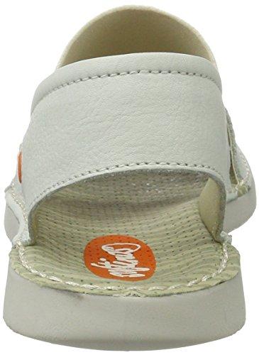 Softinos Tai383sof Smooth - Sandalias con cuña Mujer Weiß (White)
