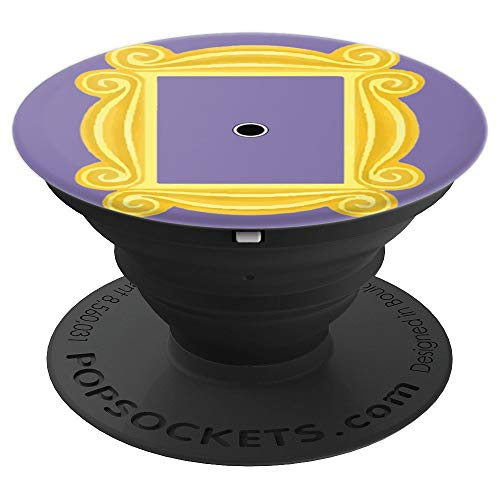 (Purple Door Yellow Frame Peephole Vintage Fun Gift - PopSockets Grip and Stand for Phones and Tablets)