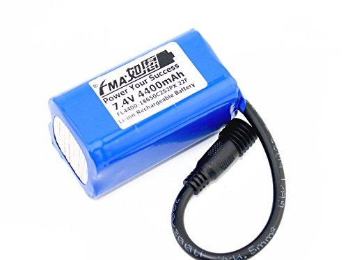 Liion Battery 7.4V 4400Mah For Led Bike Light 2S2P 22F Us