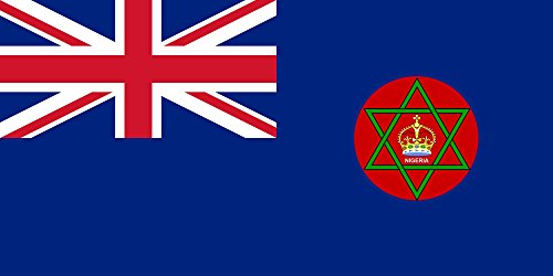 British Colonial Nigeria | Landscape Flag | 1.35m² | 14.5sqft | 80x160cm | 30x60inch - 100% Made in Germany - Long Lasting Outdoor Flag ()