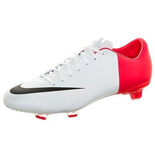Nike - 509122 - Mercurial Miracle Fg - Bota De Fútbol - Hombre - Color : Blanco/Fucsia - Talla Uk : 6.5