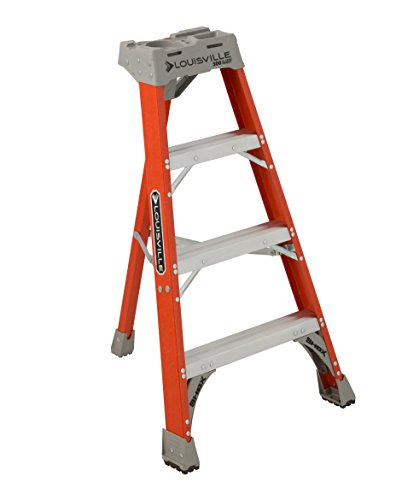 Louisville Ladder FT1504 Fiberglass Tripod Ladder Type IA, 300-Pound Load Capacity, 4, 4-Foot