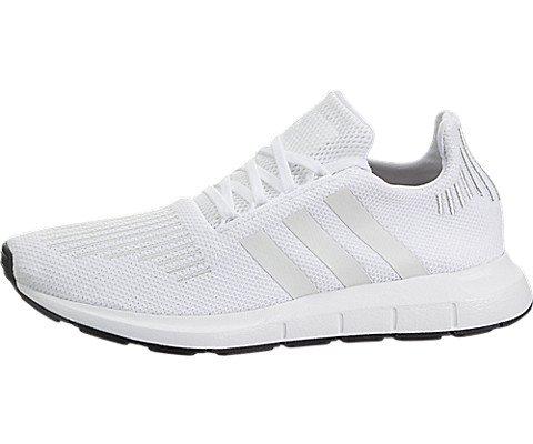adidas Originals Men's Swift Run Shoes,White/Crystal White/Black,9.5 Medium (Crystal Footwear)