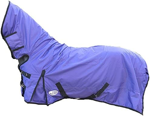 Best On Horse Boh - Manta impermeable para caballo (200 g, peso medio 600D, cuello fijo, resistente al agua), Ecuestre, morado, UK 7'6 / EU 170cm / 95