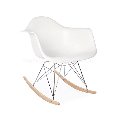 Kids Size Rocking Playroom Chair - Inspired By Designs Of Charles & Ray Eames (White) by Vertigo Interiors