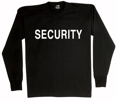 Rothco 2-Sided L/S T-Shirt/Security, Black, Large