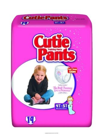 Cuties Training Pants for Girls - Case/76 (4T - 5T - Girls (38+ lbs.))