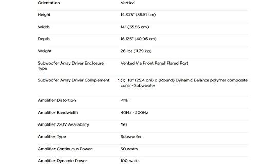 Amazon Polk Audio Psw10 10 Inch Powered Subwoofer Single