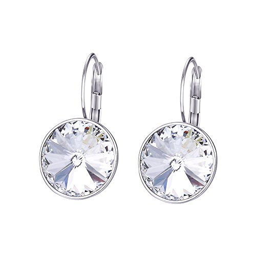 Xuping New Black Friday Gifts Hoop Earrings Crystals from Swarovski for Women Christmas Gifts(White)