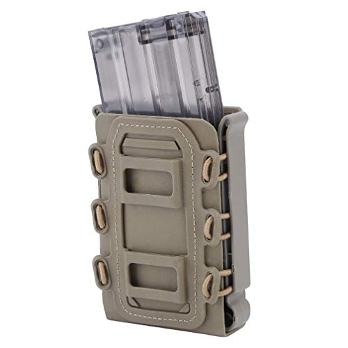 - Simways Rifle Mag Pouch Holster 5.56 7.62 Soft Magazine Pouches Holder Tactical Mag Carrier Molle Clips M4 M16, AR15, AK47 Magazine (Tan)