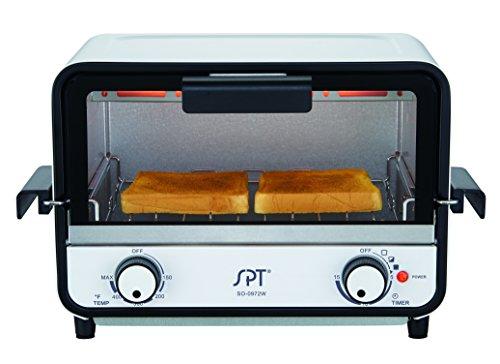 SPT SO-0972W Easy Grasp Toaster Oven, Glossy White