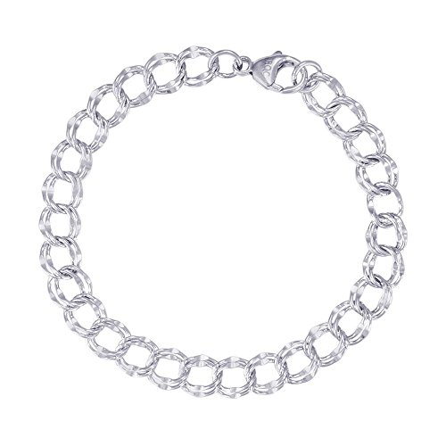 Rembrandt Sterling Silver Double Link Bracelet 7 inches by Rembrandt Charms