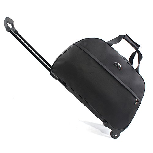 SENLI Luggage 20 Inch Rolling Duffle trolley bag travel bag tote Carry-On black by SENLI