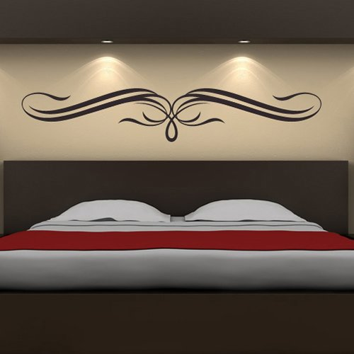 Header Bow - Decorative Bow Header Decorative Patterns Wall Stickers Home Decor Art Decals available in 5 Sizes and 25 colors Large Nut Brown