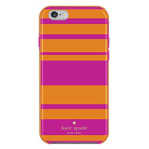 Kate Spade New York Hybrid Hardshell Apple iPhone 6 Case Tangerine/Pink Stripe
