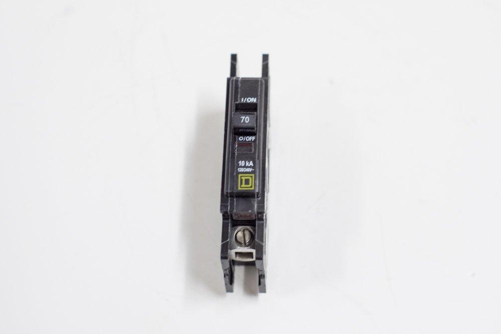 Square D Circuit Breaker, 20 Amp, 1-Pole, QOU120