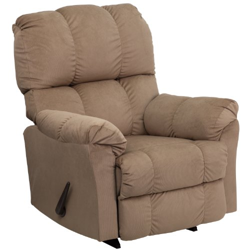 Winston Direct Comfort Series Contemporary Top Hat Coffee Microfiber Rocker Recliner