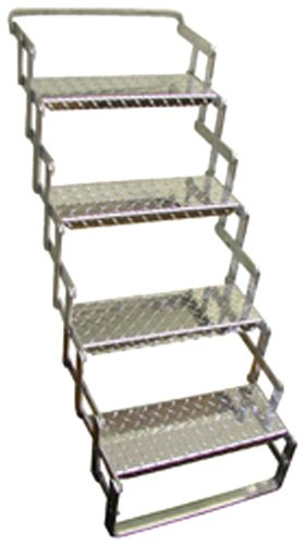 - C. R. Brophy AS04 Aluminum Scissor Steps - 4 Step, 31
