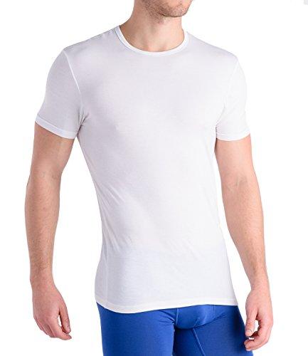 Comfortable Club Men's Modal Slimfit T-Shirt / Undershirt Crew Neck (Medium, Bright (Fitted Crew Shirt)