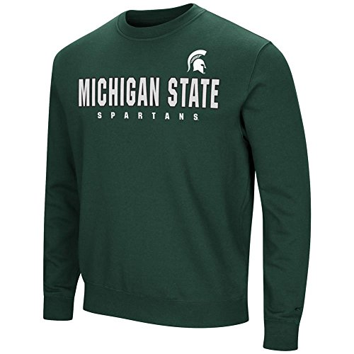 (Colosseum Michigan State University Sweatshirt Playbook Crew Neck Fleece (X-Large))