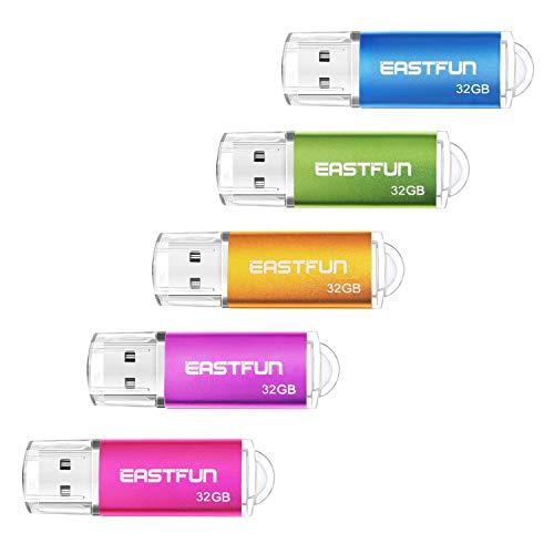 EASTFUN 32GB USB 2.0 Flash Drive Memory Stick Thumb Drive Pe